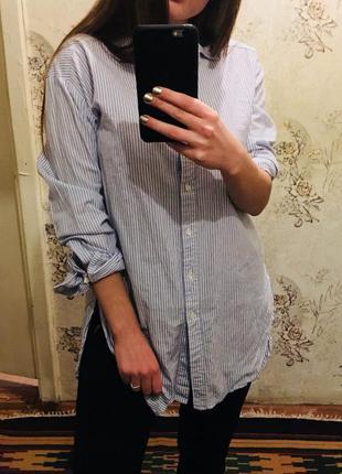 Очень крутая удлиненная рубашка от h&m