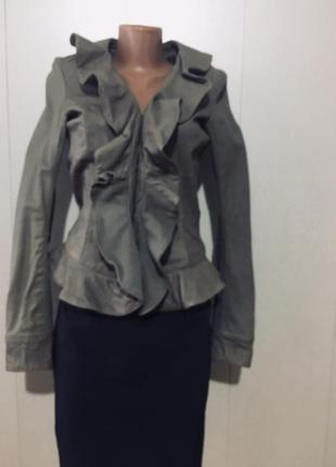 Куртка кожа натур италия xs новая