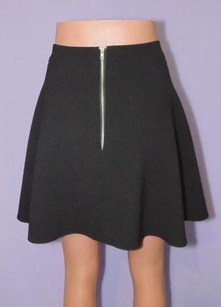 Черная юбка-солнце, 12 размера, сзади замочек atmosphere