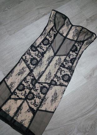 Платье-бюстье с открытыми плечами без рукавов и бретелей new look