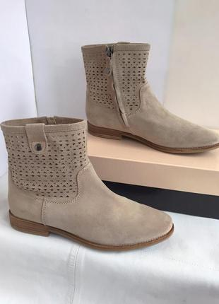 Ботинки челси полусапожки кожаные, весенние,с перфорацией, geox, 38 размер.