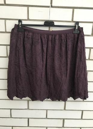 Новая,очень красивая юбка цвет марсала,кружево,вышивка,этно,бохо стиль,marks&spencer
