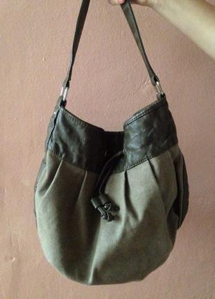 Удобная сумка-мешок zara