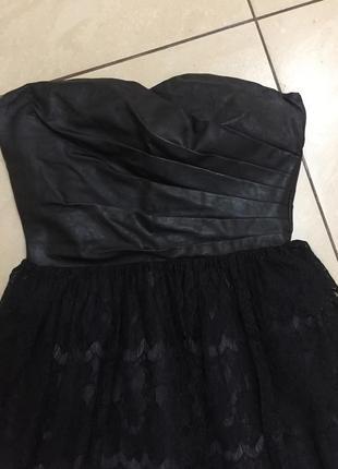 Кожаное платье asos