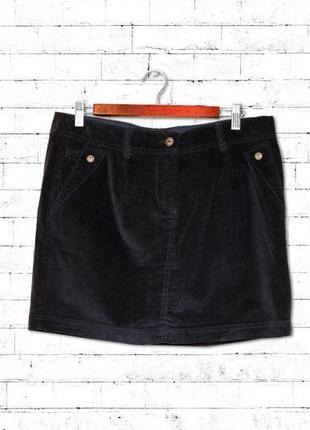 Акция!! синяя мини-юбка из микровельвета евро 42 takko fashion германия