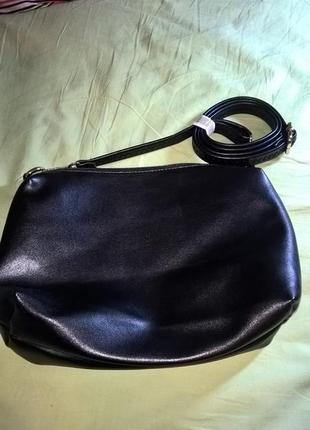 Черна сумка на длинной ручке parfois