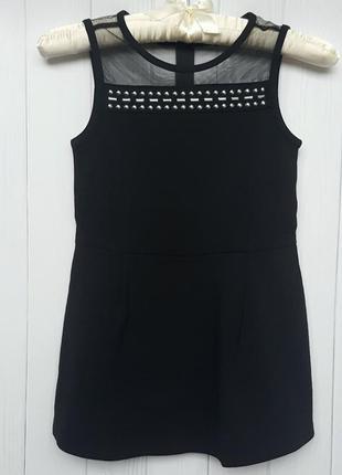 Черное платье-ромпер