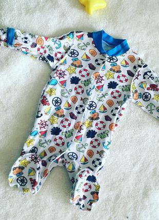 Человечек с якорями , деткам до 3-4 х месяцев