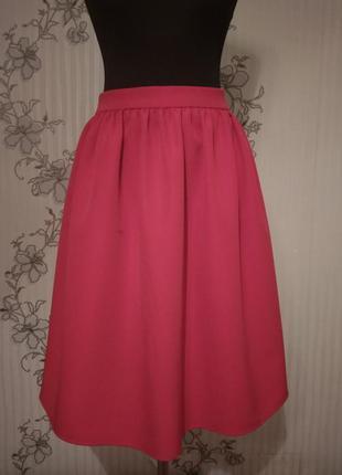 Новая красная юбка с костюмной ткани, разные размеры и цвета