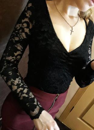 Нарядная ажурная кофта, блуза