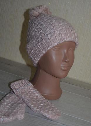 2-6 лет, шапка+варежки,yd