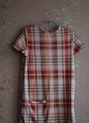 Платье в клетку zara trafaluc