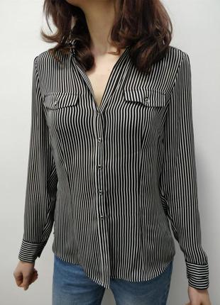 Прекрасная рубашка в полоску white black