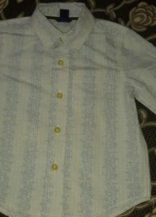 Фирменная очень красивая рубашка baby gap на 2-3 года