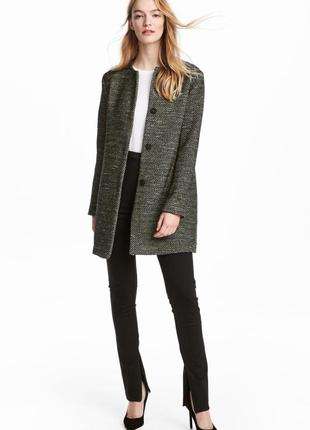 Пальто, 34-й (xs) - 36-й (s), акрил 45%; полиэстер 35%; хлопок 15%; полиамид 5%