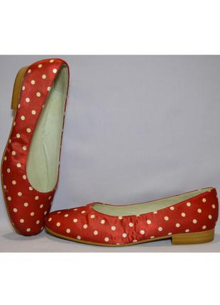 39-39.5 la belle, италия,натуральная кожа +атлас! соблазнительные туфли мокасины балетки
