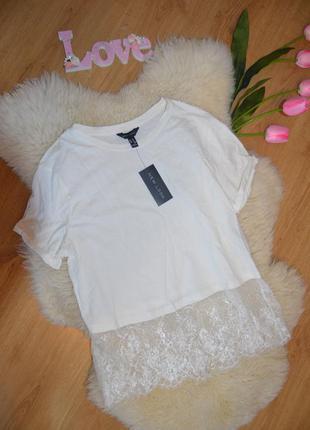 Обалденная футболка с очень красивым кружевом
