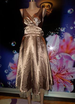Стильное платье с фатином!