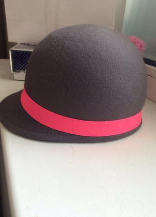 Шляпа шапка жокейка 2017 серая