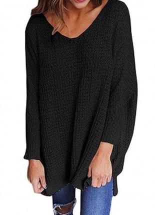 Черное платье -туничка