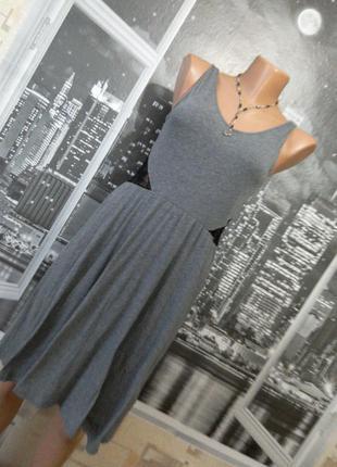 Трикотажное платье с открытой спинкой!