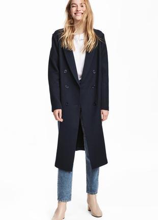 Двубортное пальто, 34-й (xs), полиэстер 65%; вискоза 33%; эластан 2%