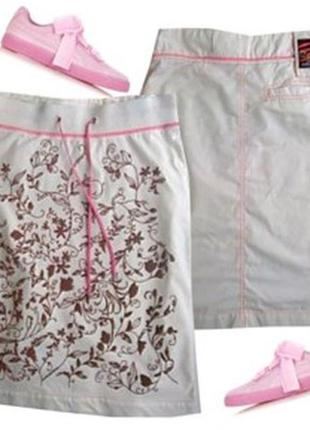 Стильная юбка трикотаж + катон размер 40-44 бренд  elite