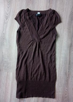 Теплое короткое платье туника