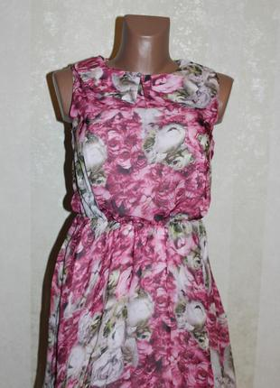 Нежное платье с цветочным принтом. распродажа.