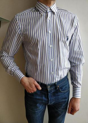 U.s. polo assn рубашка мужская в полоску