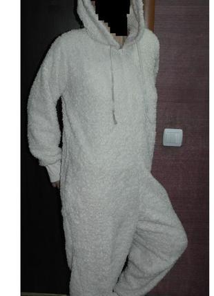 Next слип белый кигуруми пижама комбинезон человечек домашний костюм