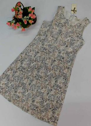 Фактурное красивое платье cream, италия размер 40 наш -м