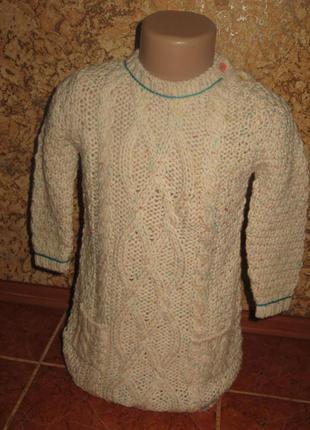 Вязаное платье 2-3года