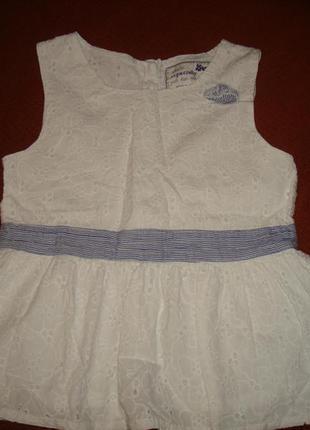 Ажурная нарядная блуза на 5-7 лет