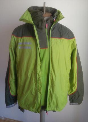 Мужчиний дві куртка осінь-весна салатовий,олива розмір-60-61