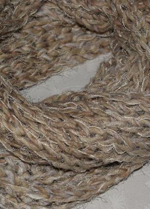 Новый шарф-снуд светлый бежевый хлопок 10%, акрил - 90%