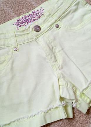 Sale! лимонные неоновые шорты шортики charles voegele на 9 лет рост 134 см