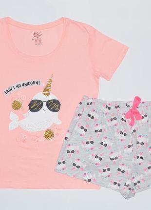 Женская пижама (футболка+шорты), primark
