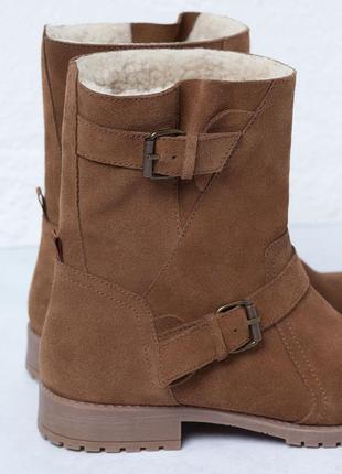 Демисезонные ботиночки из натуральной кожи bershka