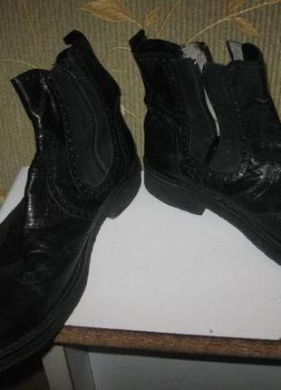 Мужские демисезонные кожаные ботинки carlo pazolini (кожа) 46 размер.