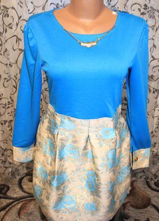 Мерцающие нежно-голубое платье р l