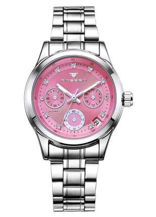 Красивые женские наручные серебристые серебряные часы, браслет