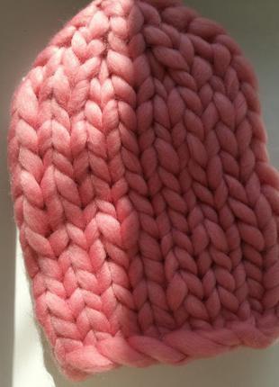 Распродажа шапка крупной вязки меринос хельсинки
