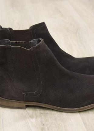 Мужские туфли ботинки челси замша london brogues