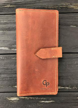 Стильное женское кожаное портмоне gp grande pelle. оригинал. кожа 100%