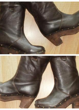Topshop. кожаные сапоги на наш 40 рр.