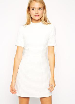 Asos фактурное плотное  платье