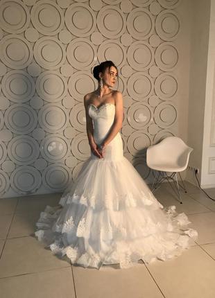 Свадебное платье русалка (рыбка) 42-44 р. киев