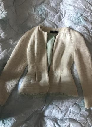 Шикарный пиджак zara, белый пиджак зара, жакет