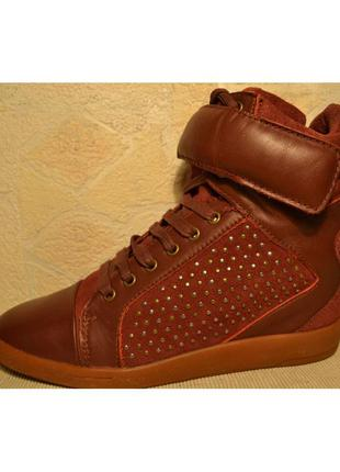 Р.39,5 голландия, bronx, натуральная кожа! стильные комфортные сникерсы ботинки